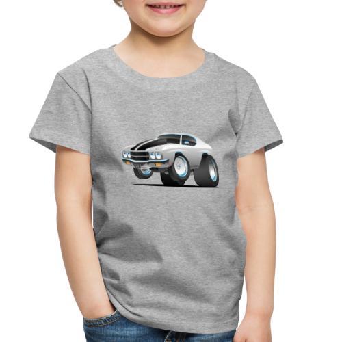 Classic 70's American Muscle Car Cartoon - Toddler Premium T-Shirt