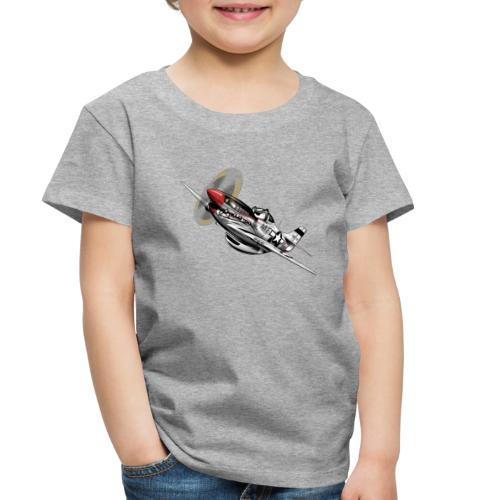 P-51 Mustang WWII Airplane Cartoon Illustration - Toddler Premium T-Shirt