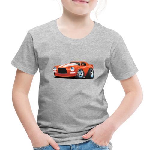 Classic Seventies Muscle Car Cartoon - Toddler Premium T-Shirt