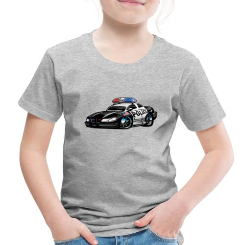 Police Muscle Car Cartoon - Toddler Premium T-Shirt