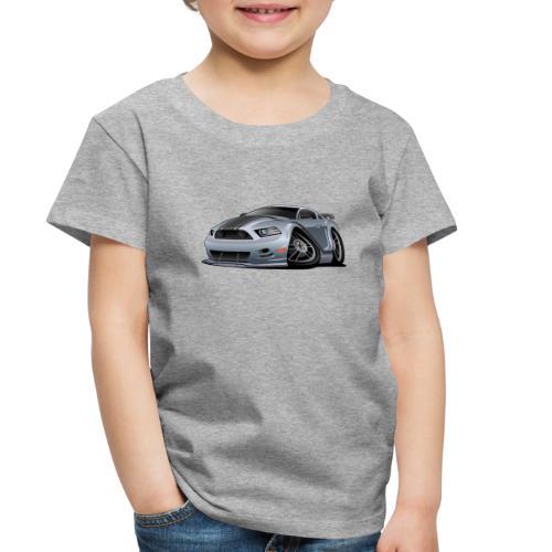 Modern American Muscle Car Cartoon Vector - Toddler Premium T-Shirt