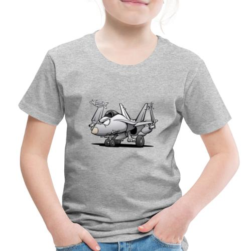 Military Naval Fighter Jet Airplane Cartoon - Toddler Premium T-Shirt