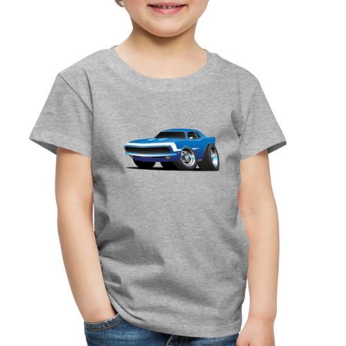 Classic Sixties Muscle Car Hot Rod Cartoon - Toddler Premium T-Shirt