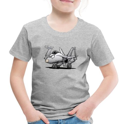 Military Naval Fighter Jet Airplane Cartoon - Toddler Premium T-Shirt