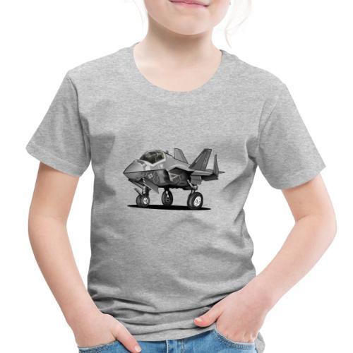 F-35C Lightning II Joint Strike Fighter Il Cartoon - Toddler Premium T-Shirt