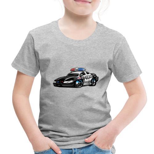 Police Muscle Car Cartoon - Toddler Premium T-Shirt