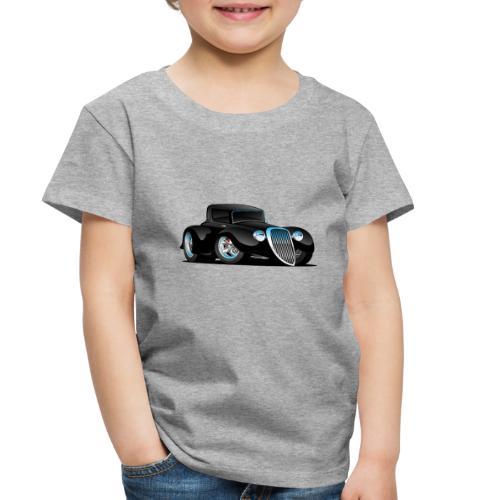Black Hot Rod Classic Coupe Custom Car Cartoon - Toddler Premium T-Shirt