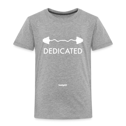 Dedicated Fitness Graphic Tee on Dark - Toddler Premium T-Shirt