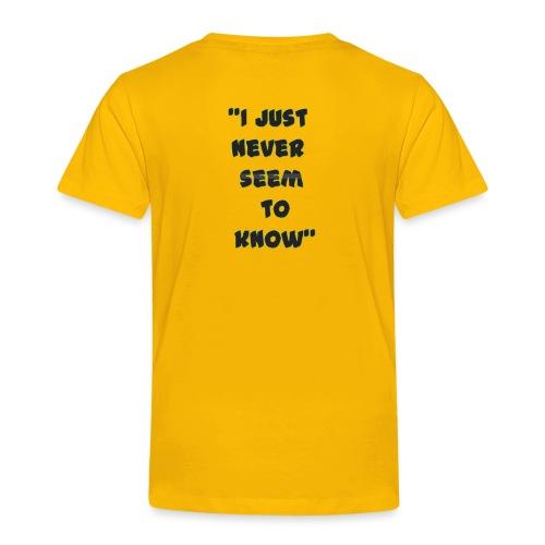 know png - Toddler Premium T-Shirt