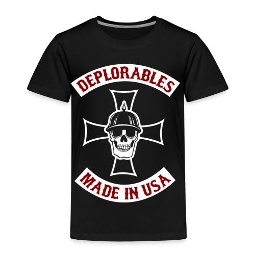Deplorables - Made in USA - Bikers for Trump - Toddler Premium T-Shirt