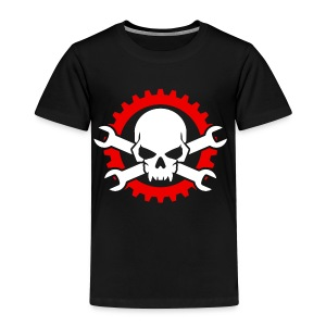 Gearhead Skull and Crossed Wrenches - Toddler Premium T-Shirt