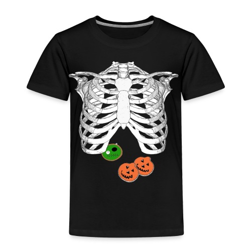 Halloween Trick o Treat Skeleton Donut Lover Shirt - Toddler Premium T-Shirt