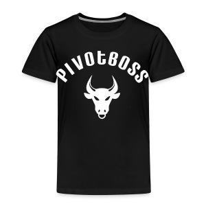 PivotBoss Curved Logo - White - Toddler Premium T-Shirt