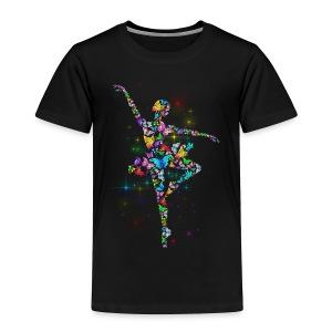 Ballerina - Butterfly - Ballet - Toddler Premium T-Shirt
