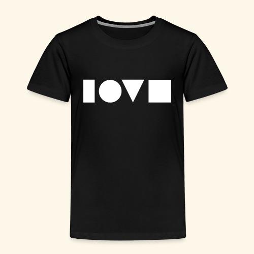 The Shape of Love - Toddler Premium T-Shirt