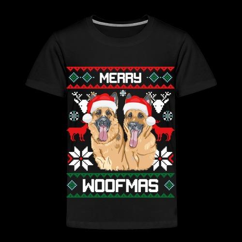 Merry Woofmas German Shepherd Couple - Toddler Premium T-Shirt
