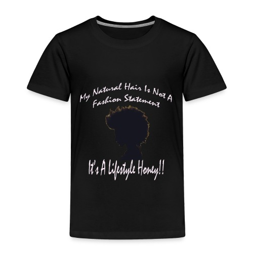 Natural Life Style - Black & Light Pink - Toddler Premium T-Shirt