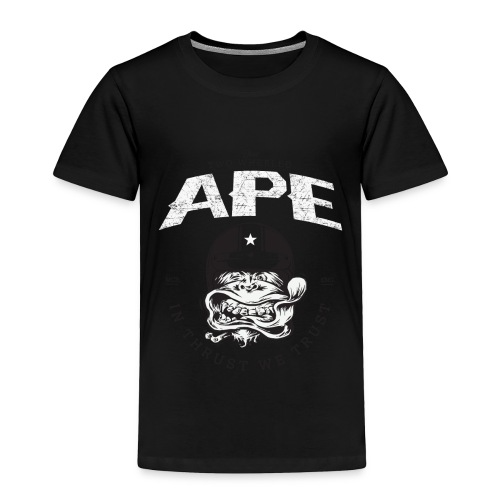 The_Two_Wheeled_Ape_Full_Throttle - Toddler Premium T-Shirt