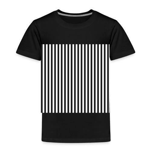Black & White Stripes - Toddler Premium T-Shirt