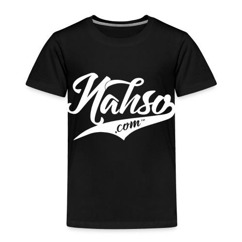 White Nahso Logo - Toddler Premium T-Shirt