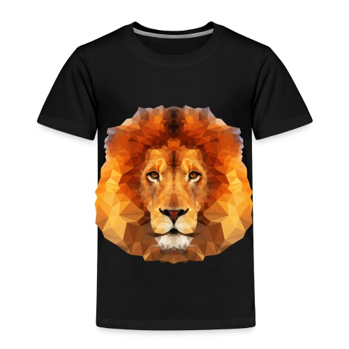 Low Poly Lion Face - Toddler Premium T-Shirt