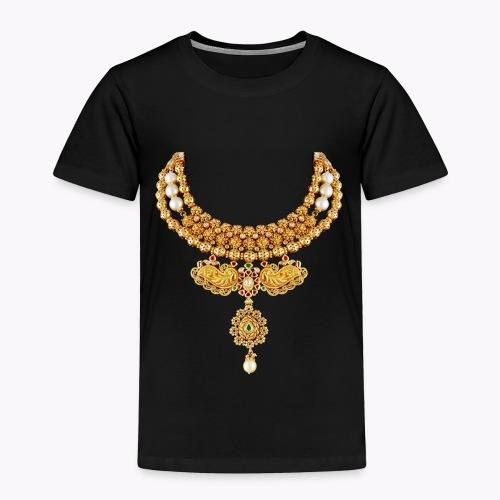 indian necklace jewelry gemstone bling tshirt / cu - Toddler Premium T-Shirt
