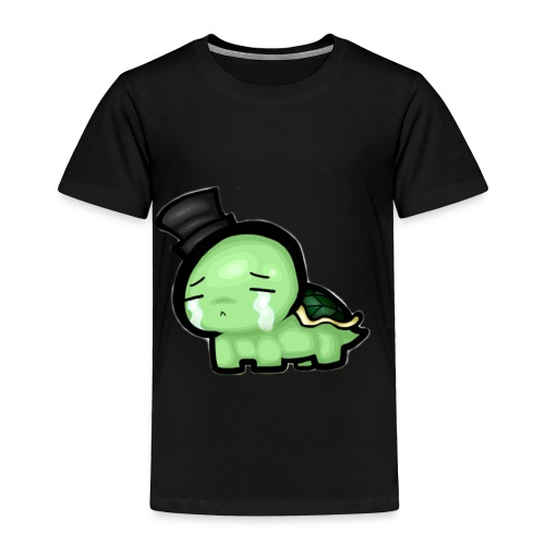 sad turtle in a top hat - Toddler Premium T-Shirt