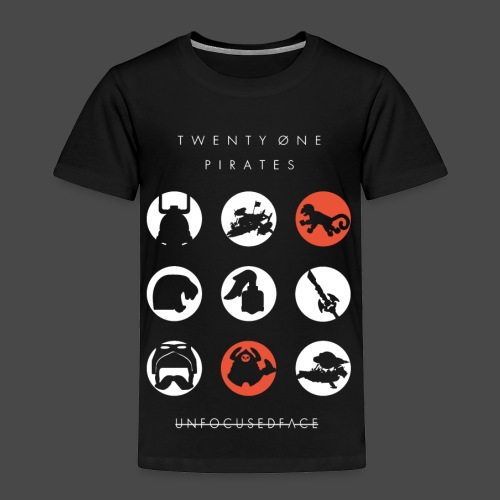 Twenty-Øne Pirates: UnfocusedFace Official Logo - Toddler Premium T-Shirt