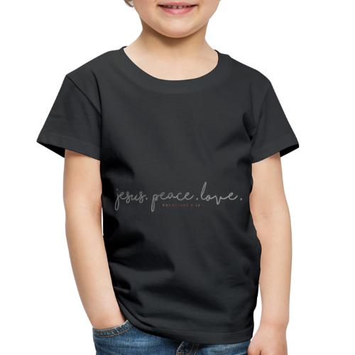 Jesus. Peace. Love. - Toddler Premium T-Shirt