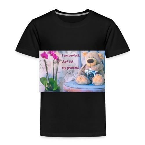 I am perfect. Just ask my grandma. - Toddler Premium T-Shirt