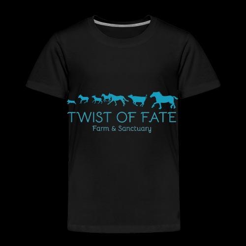 Twist of Fate Farm and Sanctuary Logo - Toddler Premium T-Shirt