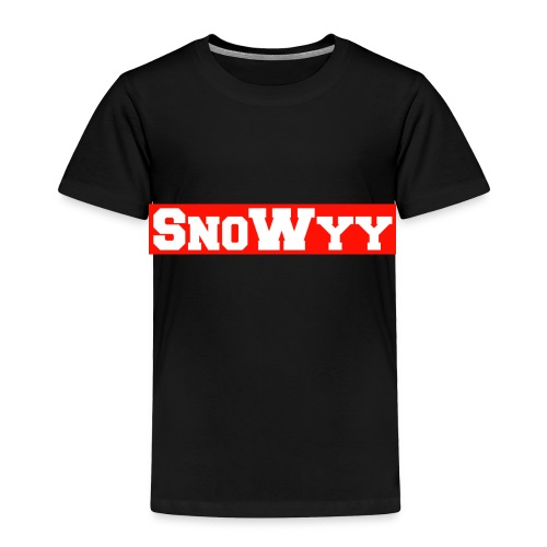 Red/White SnoWyy - Supreme Like Style - Toddler Premium T-Shirt