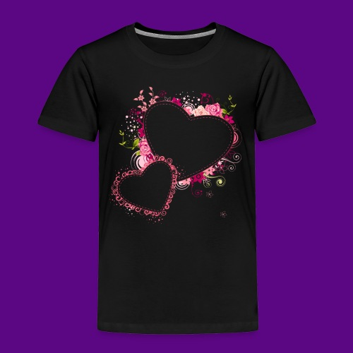 PINK HEARTS AND FLOWERS - Toddler Premium T-Shirt