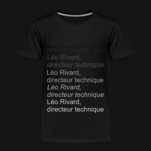 LEO TECHNICAL Rivard - Toddler Premium T-Shirt