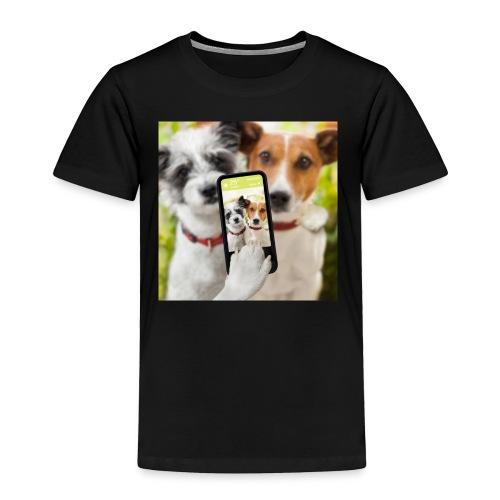 Dogs & Phone - Toddler Premium T-Shirt