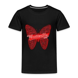 BUTTERFLY WORD RED - Toddler Premium T-Shirt