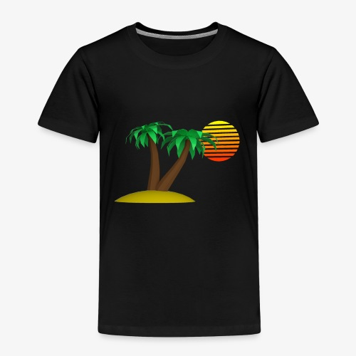 Palm Trees and Sun - Toddler Premium T-Shirt