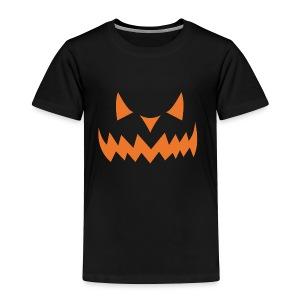 Jack o Lantern Halloween Pumkin face scary Costume - Toddler Premium T-Shirt