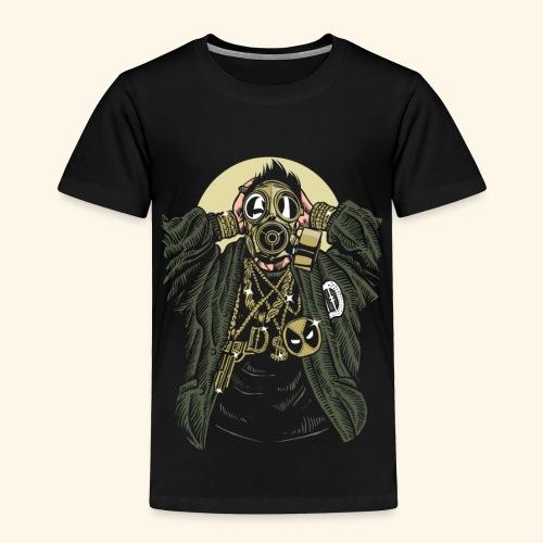 Gas mask Gangsta - Toddler Premium T-Shirt