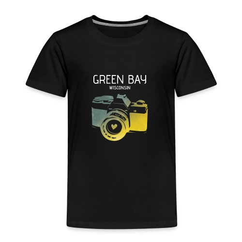 Green Bay camera with heart - Toddler Premium T-Shirt