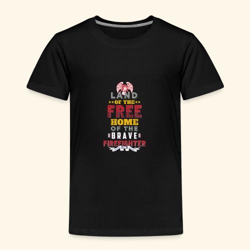 Patriotic Firefighter / American Firefighter - Toddler Premium T-Shirt
