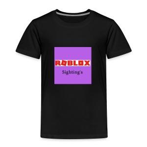 Roblox Sightings MERCH - Toddler Premium T-Shirt