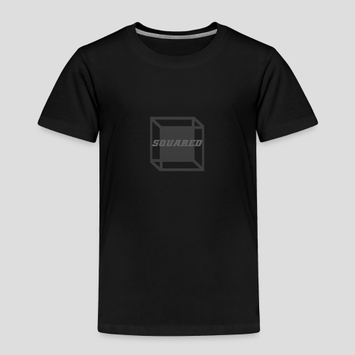 Squared Apparel Black / Gray Logo - Toddler Premium T-Shirt