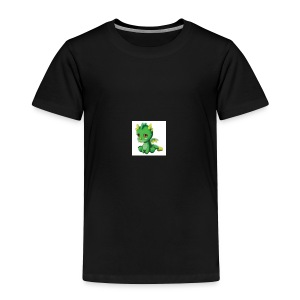 Sad Cartoon Dragon - Toddler Premium T-Shirt