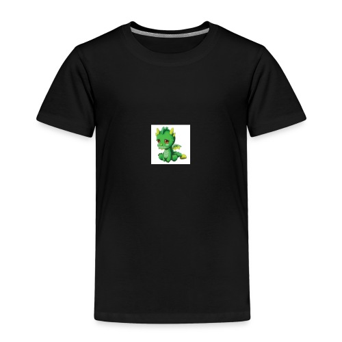 Sad Cartoon Dragon - Toddler Premium T-Shirt
