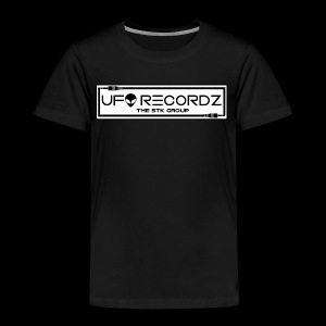 UFO RECORDZ White on Black - Toddler Premium T-Shirt