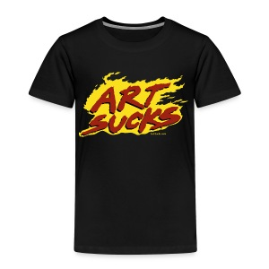 Flaming Art Sucks - Toddler Premium T-Shirt