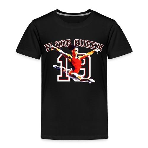 Floor Queen - Black Football Jersey - Toddler Premium T-Shirt