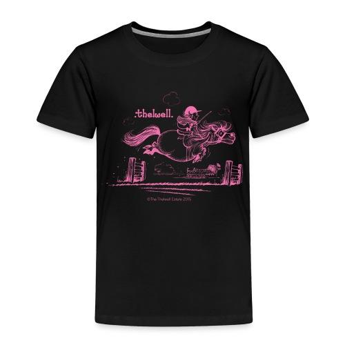 PonyJump Pink Thelwell Cartoon - Toddler Premium T-Shirt