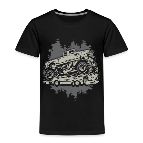 Monster Truck Grunge - Toddler Premium T-Shirt
